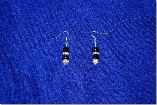 Black and Silver Earrings (2)