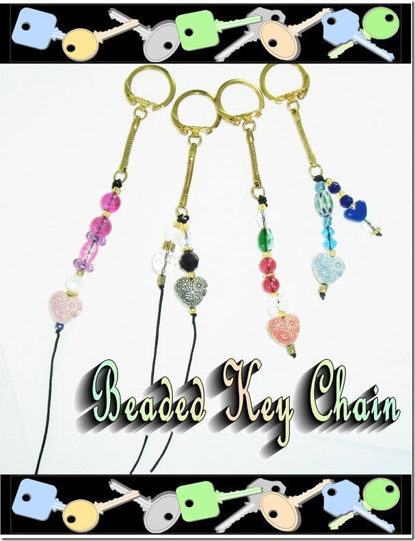 beaded key chain-1