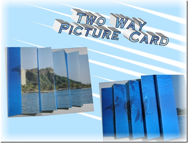 two way picture card