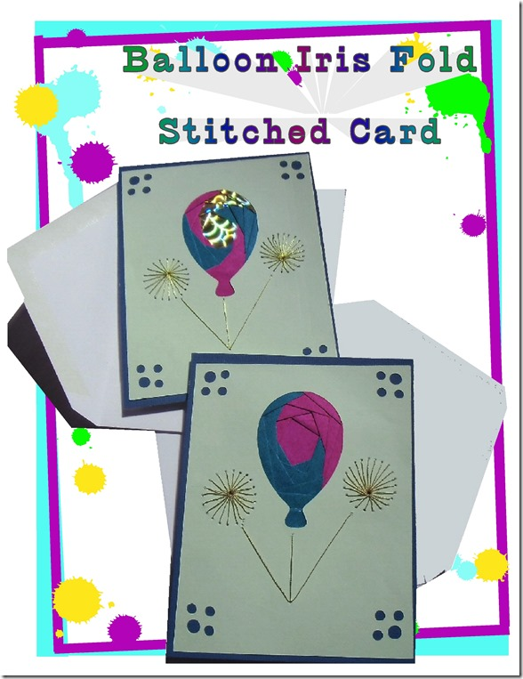 balloon fold-stitched card