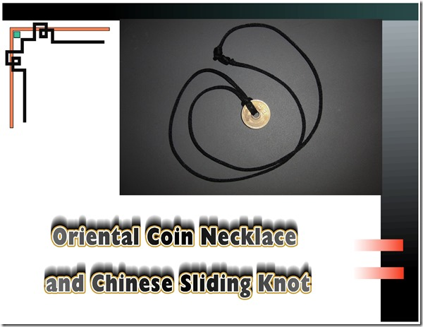 coin necklace-sliding knot