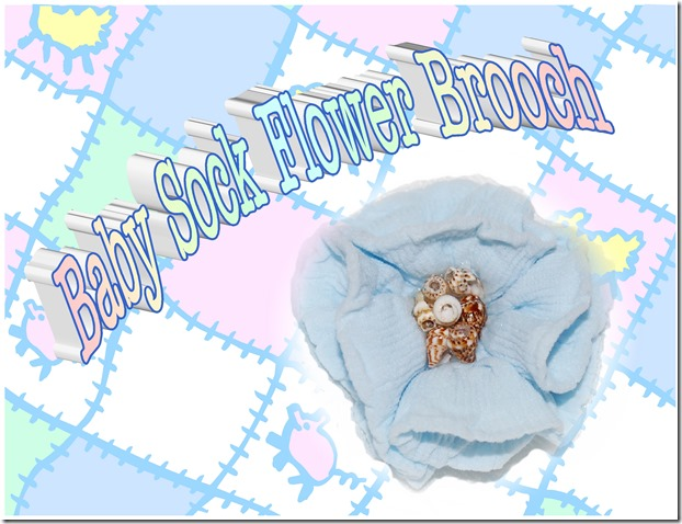 poster-baby sock flower brooch