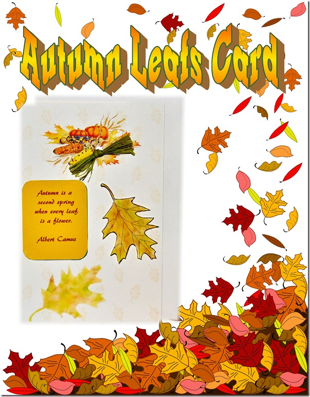 autumn leafs card