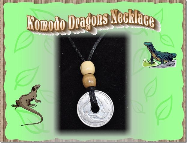 komodo dragons necklace