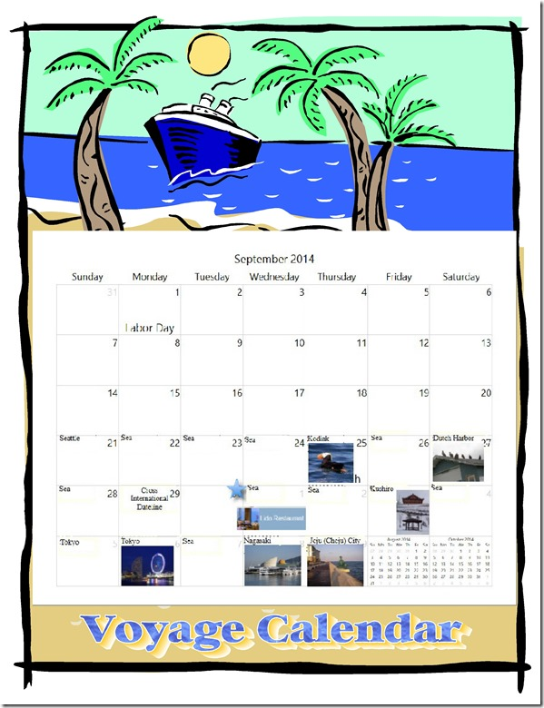 voyage calendar