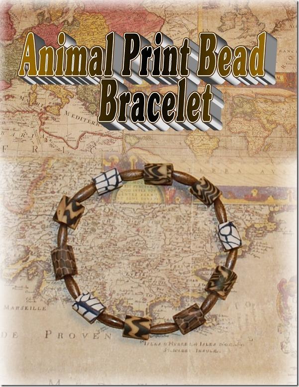 Animal Print Beaded Bracelet