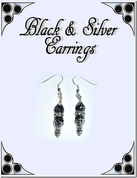 black & silver earrings