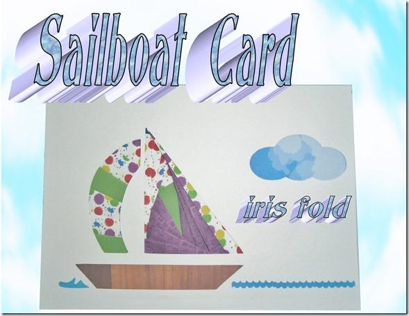 iris folding sailboat