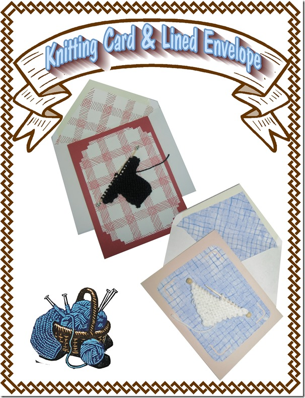 Knit Card-Lined Envelope