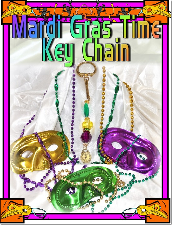 Mardi Gras key chain
