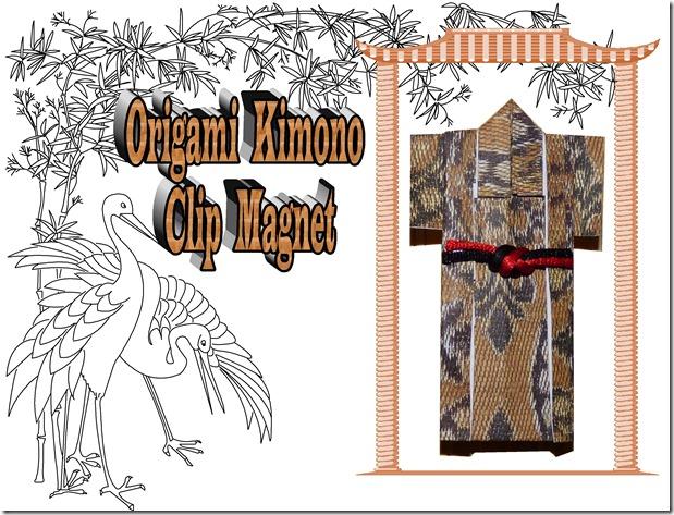 origami kimono magnet