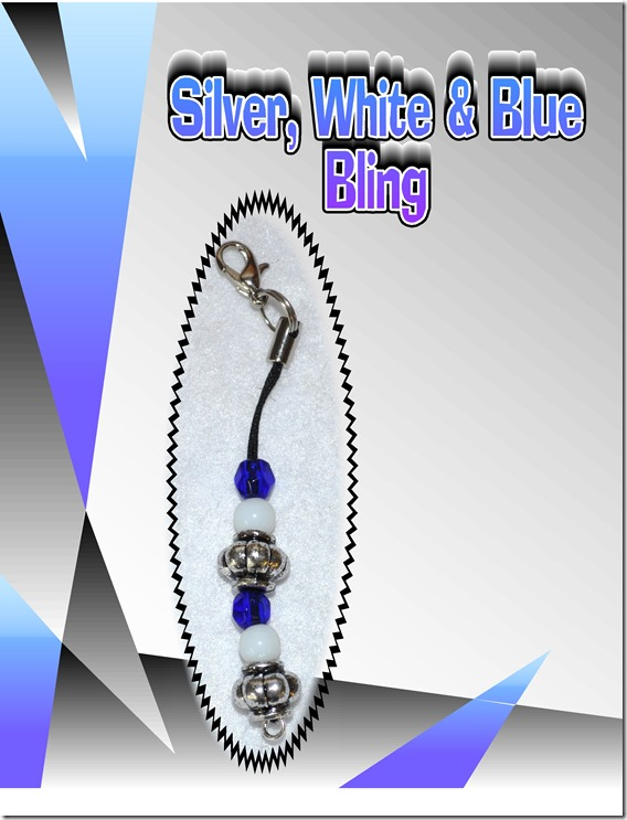 silver white blue bling