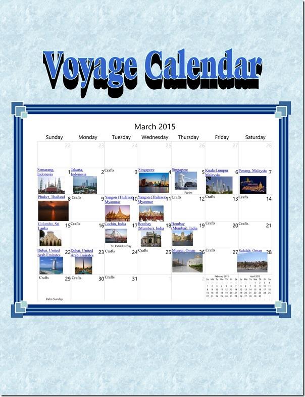 voyage calendar WC